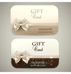 Collection of gift cards vector image