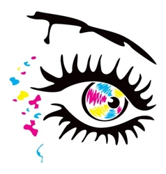 Printer eye vector image vector image
