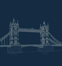 sketch tower bridge vector image vector image