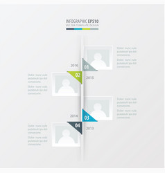 Timeline green blue gray color vector