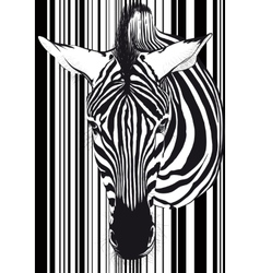 Zebra barcode Face and neck vector image vector image