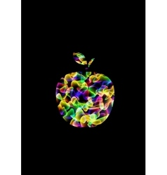 Abstract psychedelic apple vector