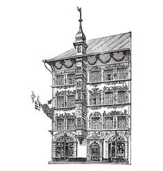 Antiques shop in lucerne switzerland vintage vector