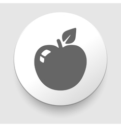 Apple Icon on Round Button vector image