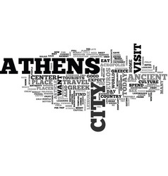 Athens hotel guide text word cloud concept vector