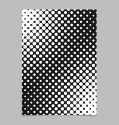Balck and white halftone dot pattern flyer vector