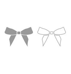 bow icon grey set vector image