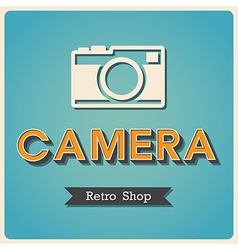 Camera shop Retro Poster vector image vector image
