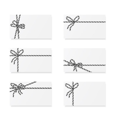 Card notes with gift bows vector