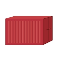 cargo container for freight shipping vector image