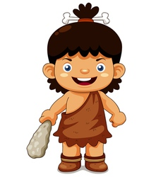 Cave boy vector image