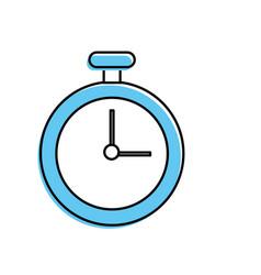 chronometer element to training sport vector image
