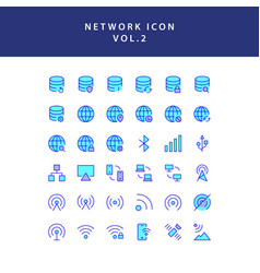 cloud computing network filled outline icon set vector image