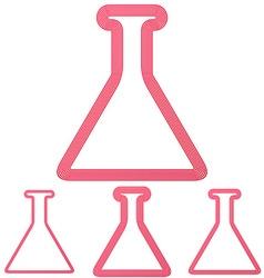 Crimson line chemistry logo design set vector