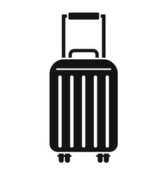 Cruise travel bag icon simple style vector