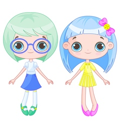 Cute Girls vector image