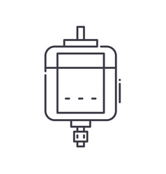 Dc motor icon linear isolated thin vector