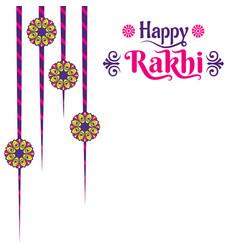 Decorative happy rakhi festival greeting card vector