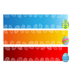 easter day eggs banner vector image