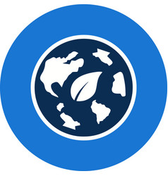 eco world icon vector image