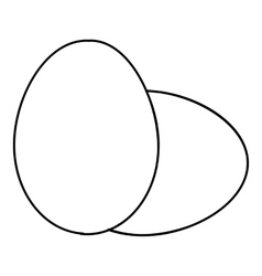 Eggs icon outline style vector