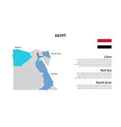 Egypt map infographic template divided by vector