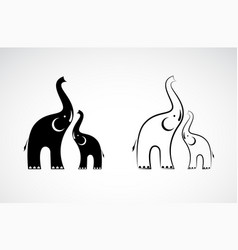 elephants design on white background wild animals vector image
