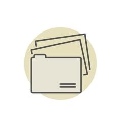 File Folder colorful icon vector image