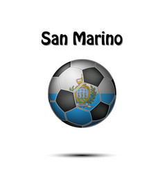flag of san marino in the form of a soccer ball vector image