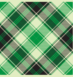 Green diagonal plaid seamless pattern vector