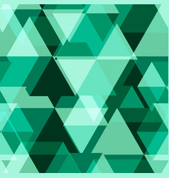 Green geometry abstract seamless pattern vector