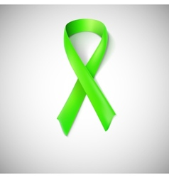 Green ribbon loop vector