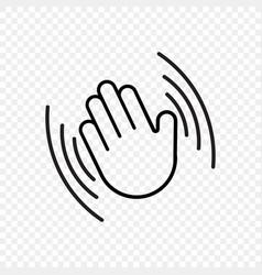 Hand waving icon hello welcome or goodbye vector