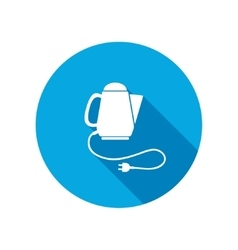 Home electric kettle Kitchen equipment two-pin vector image