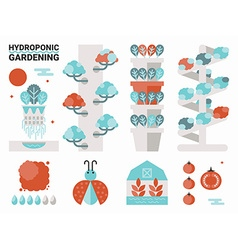Hydroponic gardening vector image