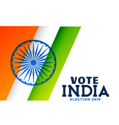 Indian general election 2019 poster design vector