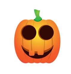 isolated happy jack-o-lantern vector image