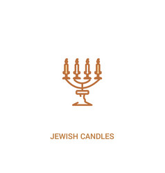 Jewish candles concept 2 colored icon simple line vector