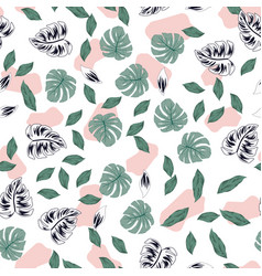 leaves seamless pattern spotted background vector image