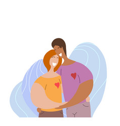 lgbt happy couple hugging and laughing woman vector image