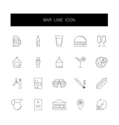 line icons set bar pack vector image