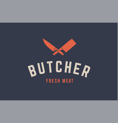 logo for butchery meat vector image
