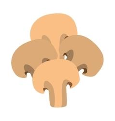 Mushroom ingredient isolated icon vector
