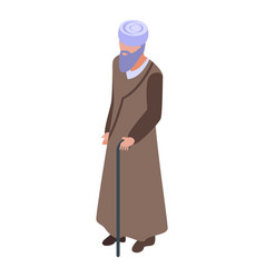 muslim priest icon isometric style vector image