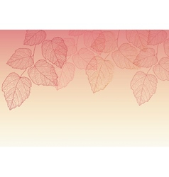 Nature background with leave vector image