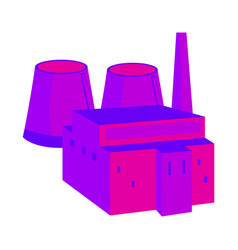 nuclear power plant colorful in a flat style vector image