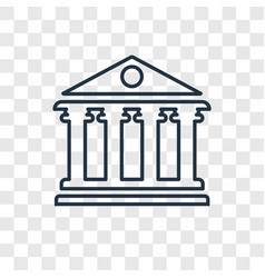 Pantheon concept linear icon isolated on vector