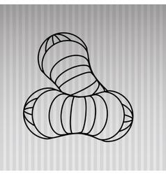 peanut icon design vector image