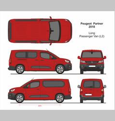 Peugeot partner passenger long van l2 2018-present vector