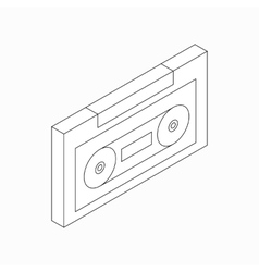 Plastic audio cassette icon isometric 3d style vector image vector image
